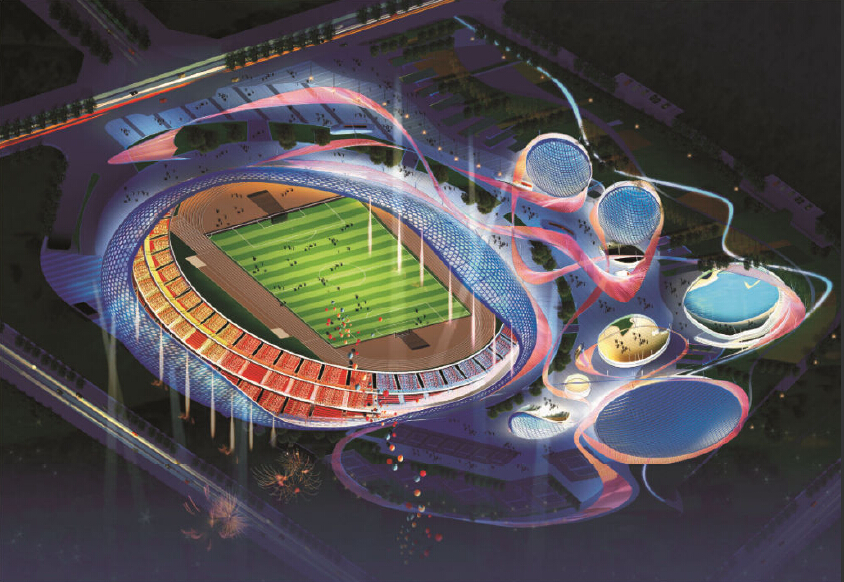 Planning of Sports Center and Design Scheme  of Stadium in Liangping County, Chongqing